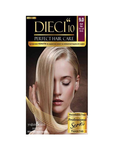 Dıecı Dıecı 10 Perfect Kit Saç Boyası 9,0 Açık Sarı Sarı